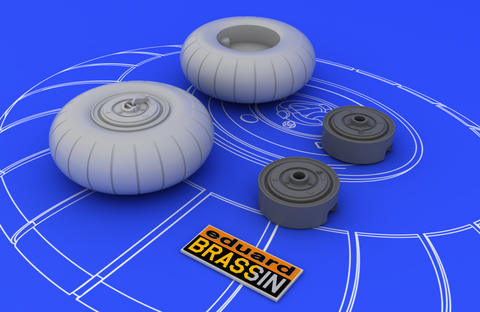 Eduard 1/48 Brassin for Bf 110 C/ D main undercarriage wheels - 648052