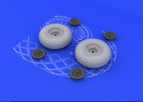 Eduard 1/48 Brassin B-17 resin wheels - #648078