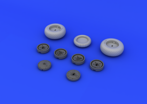 Eduard 1/48 Brassin resin Me262 Wheels Set for Tamiya - 648106