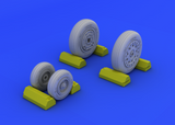Eduard 1/48 Brassin F-4B/ N wheels for Academy kit - #648114
