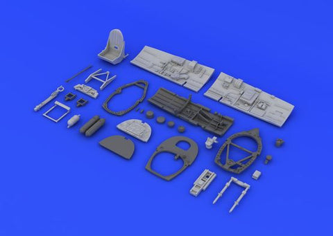 Eduard 1/48 Brassin resin cockpit for Spitfire Mk.VIII to fit Eduard kit  - 6481