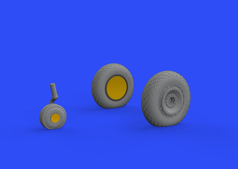 Brassin Resin 1/48 Scale P-47D Wheels - 648484