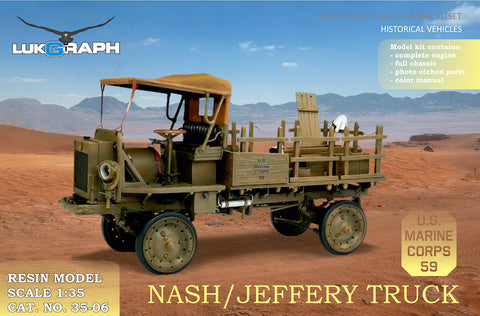 Lukgraph 1/35 scale resin kit WWI Nash/Jeffery Truck US Marine Corps #35-06