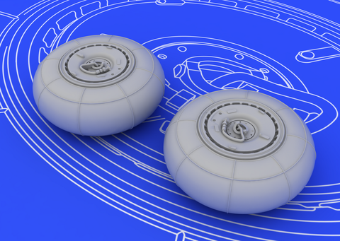 Eduard 1/72 Brassin Bf 110G wheels for Eduard kit - 672013