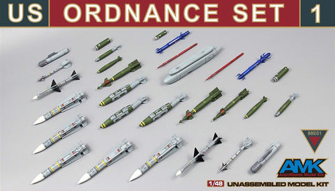 AMK Models 1/48 US Ordnance Set #1 - 88E001