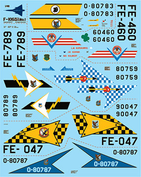 Fundekals 1/48 scale decals for Convair F-106 Delta Dart kits - Pt 1 - FUN48009