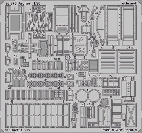 Eduard Photoetch set 1/35 scale - Archer for Tamiya - 36375