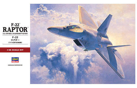 Hasegawa 1/48 Scale F-22 Raptor (USAF Air Superiority Fighter) - 07245