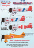 Lifelike 1/48 decals Mitsubishi A5M4 Claude Pt 1 for Fine Molds or Wingsy 48-053