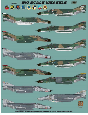 Speed Hunter Graphics 1/32 decals Big Scale F-4G Wild Weasels for Revell - 32012