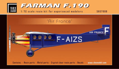 S.B.S Model 1/72 Farman F.190 'Air France' - 7008