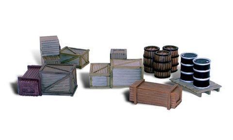 "Woodland Scenics O Scale Scenic Accents ""Assorted Crates"" (6pcs) - A2739"