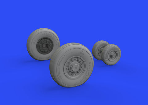Brassin 1/48 Scale F-14D wheels (AMK) - EDUB648530