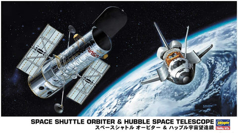 Hasegawa 1/200 Scale Kit - Space Shuttle Orbiter & Hubble Space Telescope - HSG10676