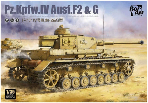 BORDER MODEL 1/35 scale Panzer Pz.Kpfw.IV Ausf.F2 & G (2in1 kit) - BT-004