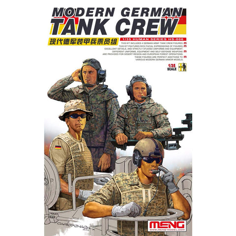 Meng 1/35 scale Modern German Tank Crew - HS-006 unpainted figures set