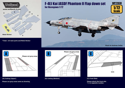 Wolfpack 1/72 F-4EJ Kai JASDF Phantom II Flap down set -WP72038