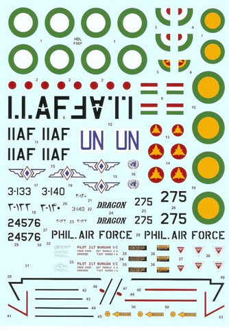 Hi-Decal Line 1/48 F-86F-25/30 Sabre F-40 Wing for Revell HSG - 48-034