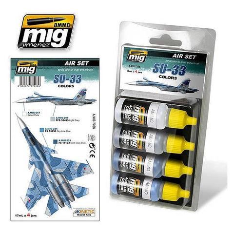 Ammo Mig Jimenez US SU-33 COLORS 17mL x 4 acrylic jars AMIG7208