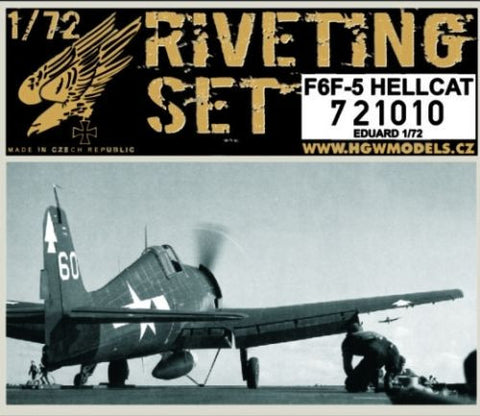 HGW 1/72 Riveting set for F6F-5 Hellcat for Eduard kit #721010