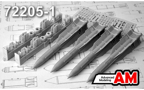 Advanced Modeling 1/72 R-33E Long Range Air to Air Missiles AMC72205-1