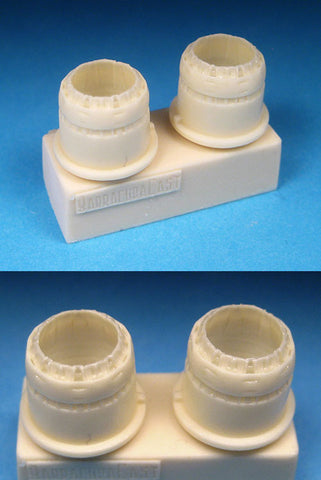 1/72 BarracudaCast BR72210 BAC Lightning Exhaust Nozzles for Airfix