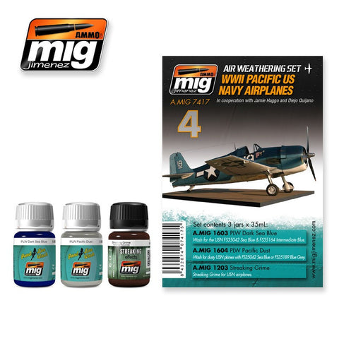 WWII Pacific US NAVY Airplanes weathering set AMIG-7417 by Ammo Mig Jimenez
