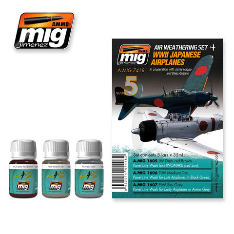 WWII Japanese Airplanes weathering set - AMIG-7418 by Ammo Mig Jimenez