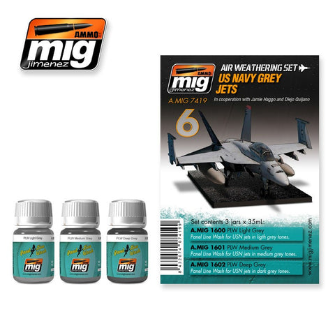 US Navy Grey Jets weathering set - AMIG-7419 by Ammo Mig Jimenez