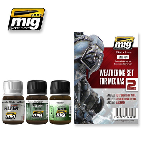 WEATHERING SET FOR MECHAS weathering set AMIG-7429 Ammo of Mig