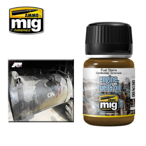 FUEL STAINS - AMIG-1409 Ammo by Mig Enamel for engine, fuel & oil effects