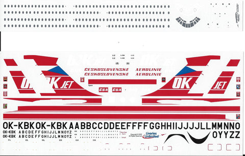 Fundekals 1/144 Decals CSA OK Jet IL-62s Liveries Unlimited - FUN14-013