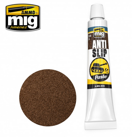 Ammo by Mig Jimenez ANTI-SLIP PASTE - BROWN COLOR FOR 1/35 - AMIG2035