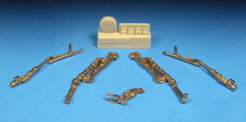 BarracudaCast 1/48 scale Sea Fury Early Type Landing Gear - BR48345