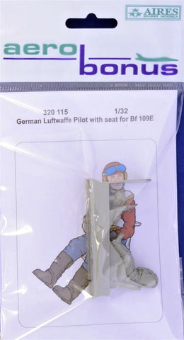 Aerobonus 1/32 scale resin German Luftwaffe Pilot for Bf 109 w/seat - 320115