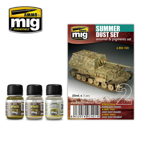 Ammo Mig Jimenez 3 pigment jars 35mL each SUMMER DUST SET - AMIG7401