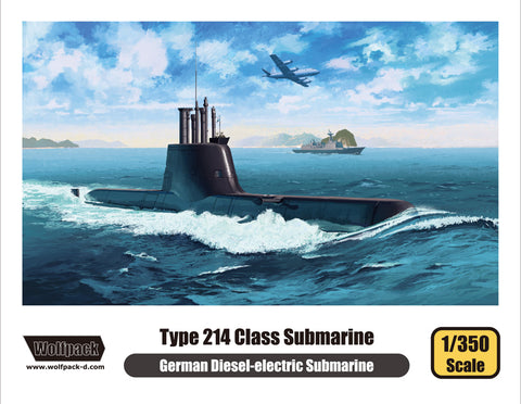 Wolfpack 1/350 model kit Type 214 Class German Diesel-Electric Submarine WP13501