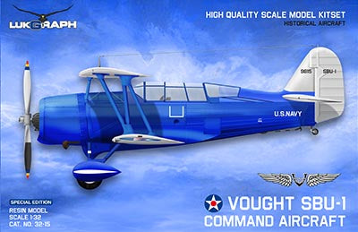 Lukgraph 1/32 scale Vought SBU-1 Command Aircraft Resin Multi Media kit - 32-15