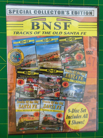 BNSF Tracks of the Old Santa Fe SPECIAL COLLECTOR'S EDITION 9-disc set #20224dvd
