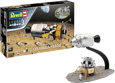 Revell 1/96 Scale Apollo 11 Columbia & Eagle Spacecraft plastic kit #03700