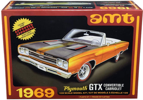 AMT 1/25 scale 1969 Plymouth GTX Convertible Cabriolet model kit #1137M/12
