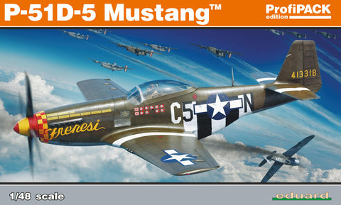 Eduard 1/48 Model kit US WWII fighter aircraft P-51D-5 Mustang Profipack - 82101