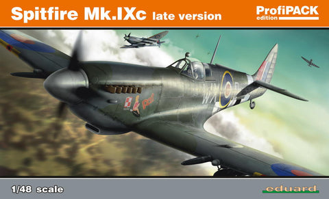 Eduard 1/48 scale Spitfire Mk. IXc late version aircraft kit - 8281