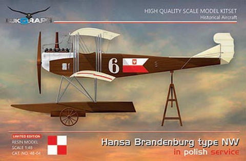 Lukgraph 1/48 resin kit Polish Hansa Brandenburg type NW floatplane 48-04