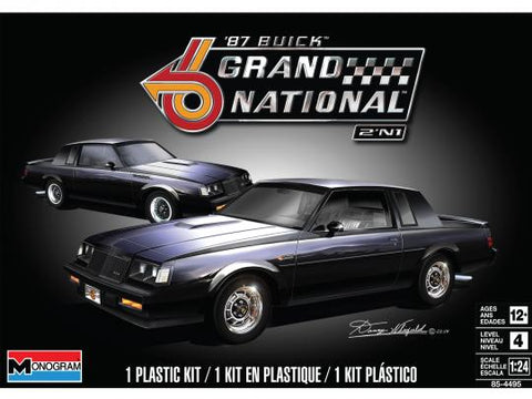 Monogram 1/24 Scale '87 Buick Grand National 2N1 - Assembly kit  85-4495