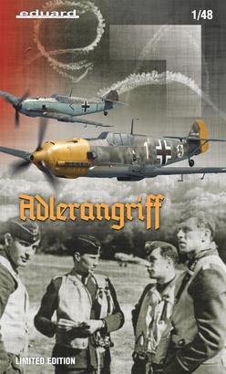 Eduard kit 1/48 scale WWII fighter Bf 109E ADLERANGRIFF DUAL COMBO - 11144