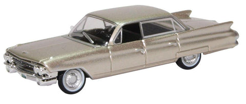 Oxford Diecast Co. 87CSD61002 HO Scale 1961 Cadillac Sedan DeVille (Aspen Gold Metallic)