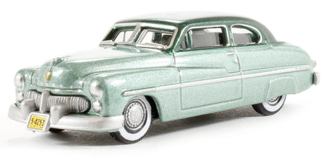 Oxford Diecast Co. HO Scale 1949 Mercury (Adelia Green / Mogul Green) #87ME49001