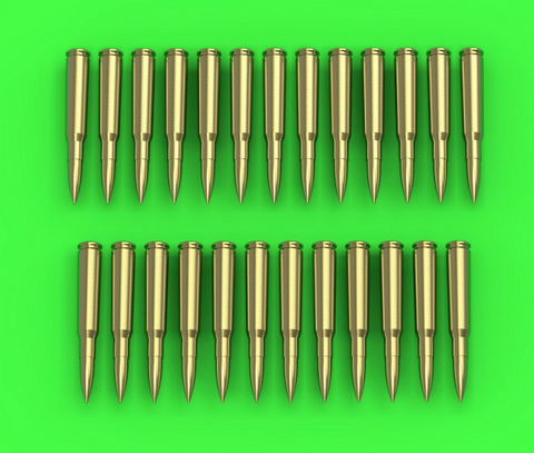Master Model 1/35 Browning .50 caliber (12.7mm) cartridges x25pcs - GM35-021