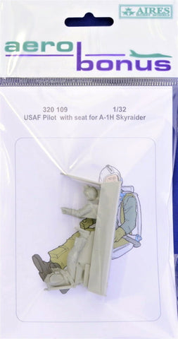 Aerobonus by Aires 1/32 USAF Pilot w/ seat for A-1H Skyraider - AEB320109